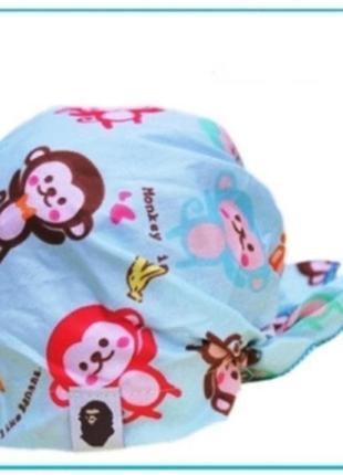 Детская летняя бандана, обезьянки