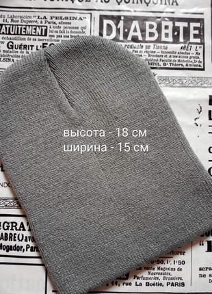 Детская вязаныя демисезонная шапка, однотонная - для малышей