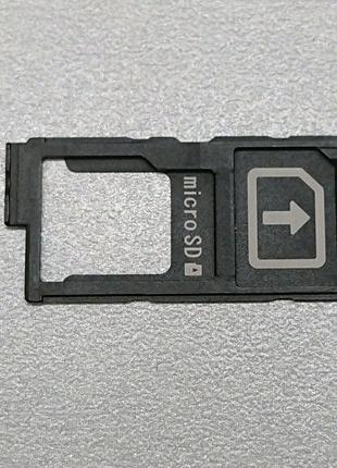 Лоток SIM+SD Sony Xperia Z5 E6603 E6653 Z3+ E6553 E6853.1289-8142