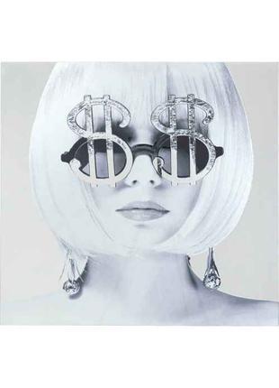 Картина на стекле Metallic Dollar Girl 120x120cm