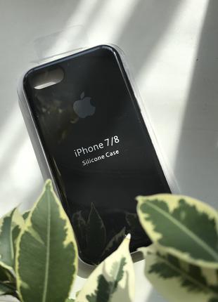 Чехол silicone case для iPhone 7 / 8 Black черный