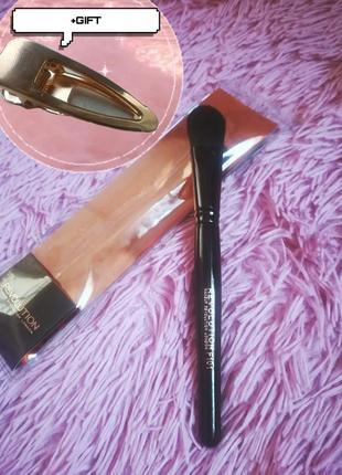 Кисть для макияжа для тональной основы makeup revolution brush