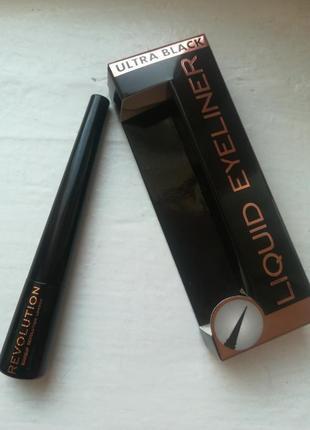 Чёрная подводка для глаз makeup revolution liquid liner ultra ...