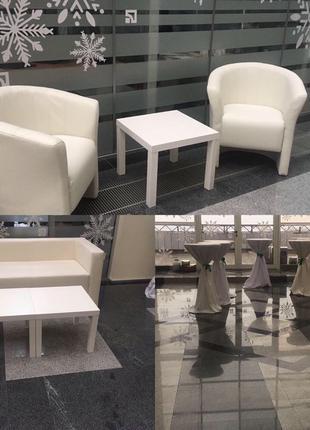 Аренда белых журнальных столиков ИКЕА, прокат кофейных столиков