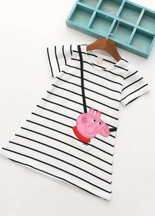 Платье для девочек свинка PEPA Пепа от 2 до 4х лет размер 98-104