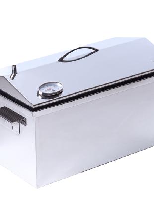 Коптильня горячего копчения с термометром (520х300х310)