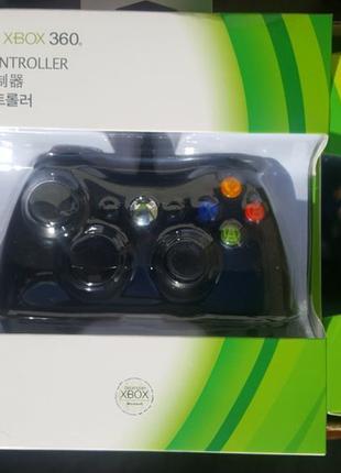 Джойстик проводной Xbox 360 и компьютера черный геймпад