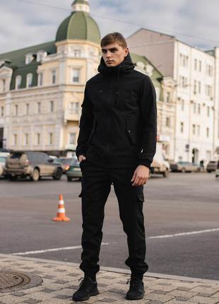 Мужской костюм softshell черный демисезонный intruder. куртка,...