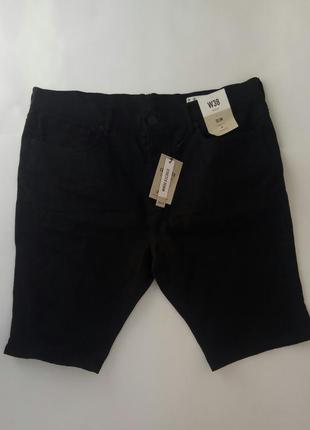 Новые черные мужские шорты denim co