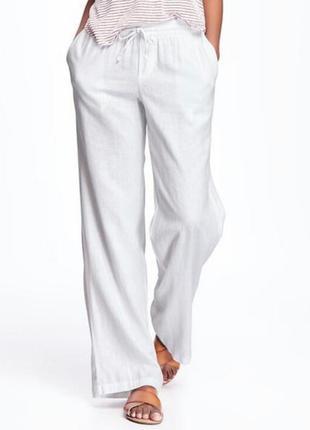 Летние льняные брюки большой размер.