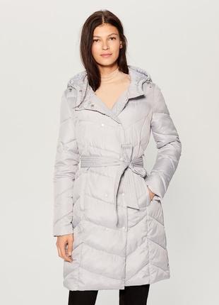 Стеганое демисезонное пальто mohito
