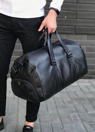 Спортивная дородная сумка на каждый день! экокожа!