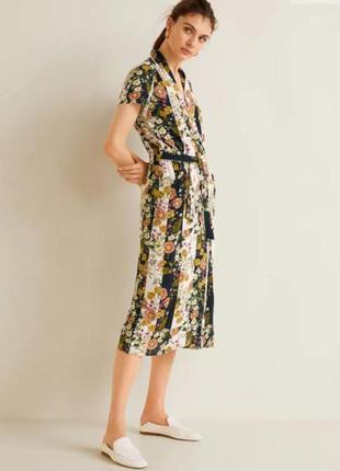 Летнее платье халат mango в ретро стиле