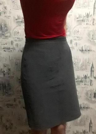 Юбка-карандаш, миди серого цвета р. XS-S