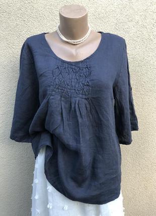 Льняная блузка,рубашка,этно бохо стиль, италия