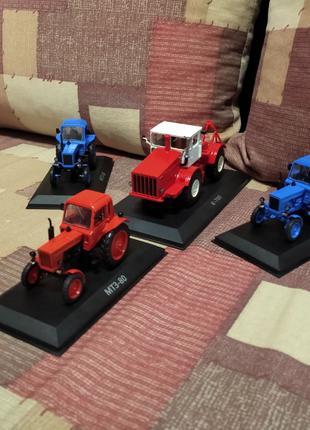 Трактор, МТЗ 80, К 700, СССР, техника, модель, 1 43, машины и люд