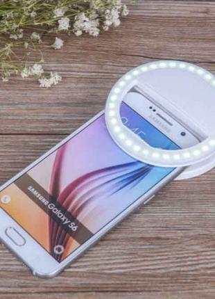 Светодиодное Кольцо вспышка для селфи телефона с подсветкой 3 реж