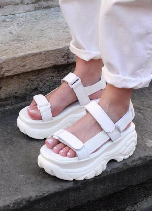 Buffalo london sandals сандалии белого цвета (36-40)