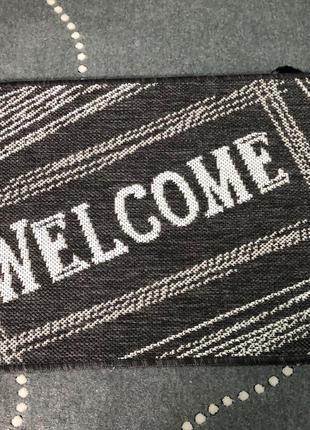 """Придверний коврик """"Welcome"""" на резиновій основі"""