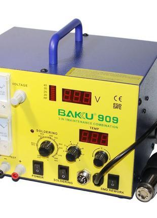 Паяльная станция BAKU BK 909 встроенный БП 15в 1а фен паяльник RF