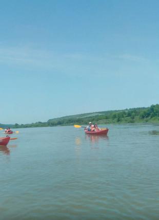 Сплав річкою байдарки каяки катамарани Дністер, Серет