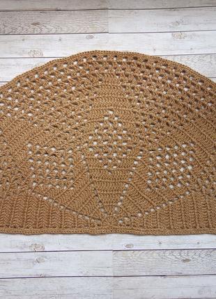 Коврик, коврик вязананый из джута