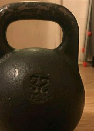 Гиря 32 кг СССР