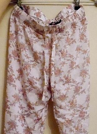 Летние брюки с цветочным принтом incity