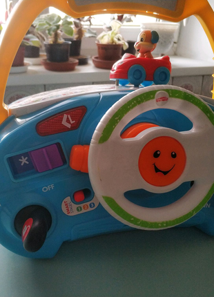 Детский интерактивный,музыкальный руль для ребенка Fisher Price