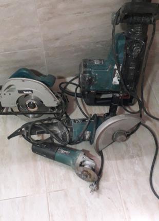 Продам б/уперфоратор макитаHR5001C,пилу5704R,болгарку9069и9565Н