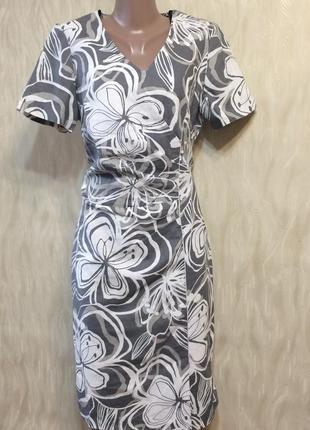 Льняное платье футляр steilmann , р.48;_