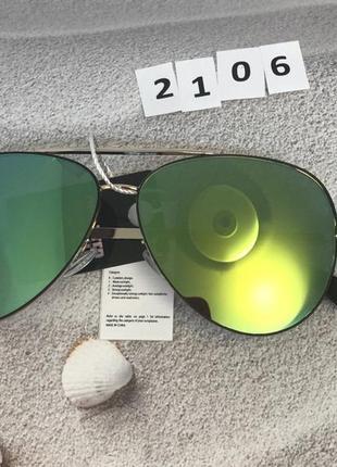 Очки авиаторы с зелеными линзами  к. 2106