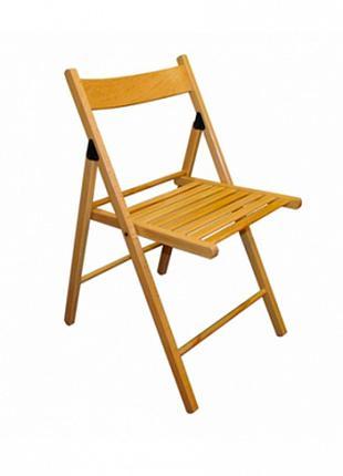 Раскладной стул из дерева цвета Бук в аренду Днепр