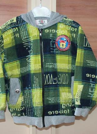 Куртка ветровка бомбер мастерка мальчик 2 - 3 года 92 104 парк...
