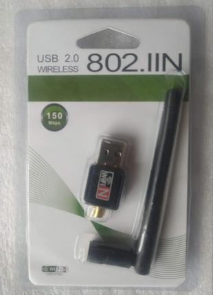 Внешний беспроводной адаптер сетевая карта USB - WiFi