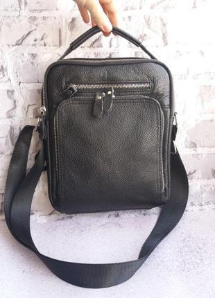 Кожаная сумка мужская шкіряна чоловіча сумочка
