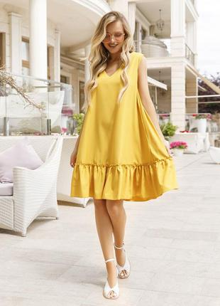 Платье-трапеция без рукавов, последний размер s
