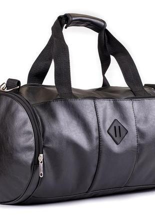 Мужская кожаная сумка бочка