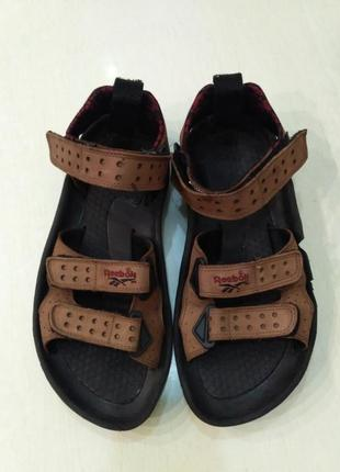 Reebok мужские кожаные сандалии на липучках