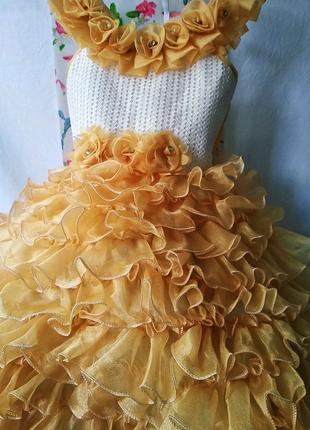 Платье нарядное 3-4
