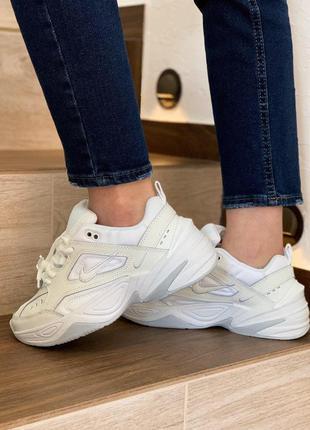 Nike m2k tekno white женские стильные кроссовки