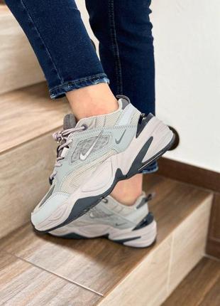 Nike m2k tekno atmosphere grey женские стильные кроссовки