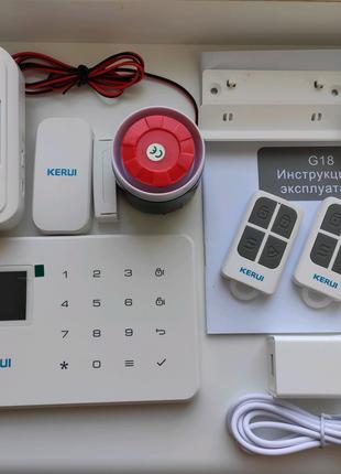 Kerui G18 W18 Сигнализация дома гаража с беспроводными датчиками
