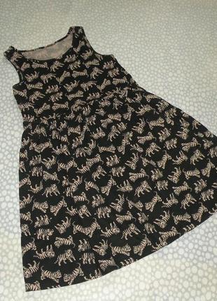 Платье тигры 6-7 лет
