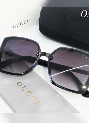 Женские очки черные безободковые солнцезащитные
