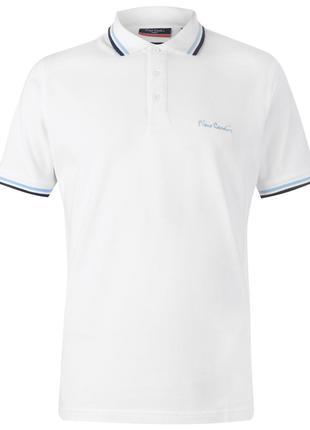 Рубашка поло футболка Pierre Cardin White Оригинал Белый цвет