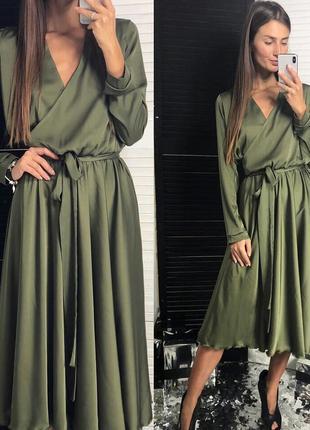 717.   вечернее платье из шелка