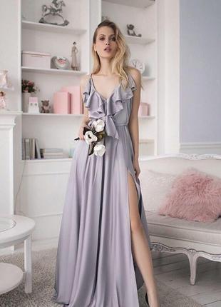 718.   вечернее платье из шелка