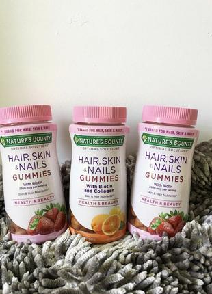 Американские витамины для волос и кожи, ногтей
