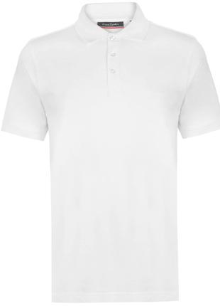 Рубашка поло футболка Pierre Cardin White Оригинал Хлопок Белый
